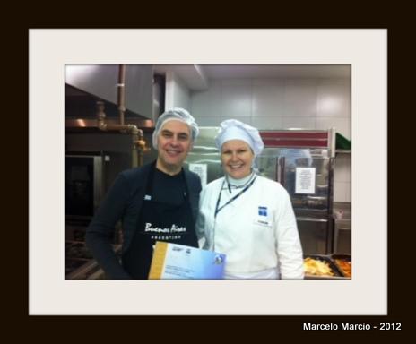 Chef Fabiana Barão e eu